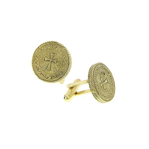 Gold Tone Round Cross Detai.jpg