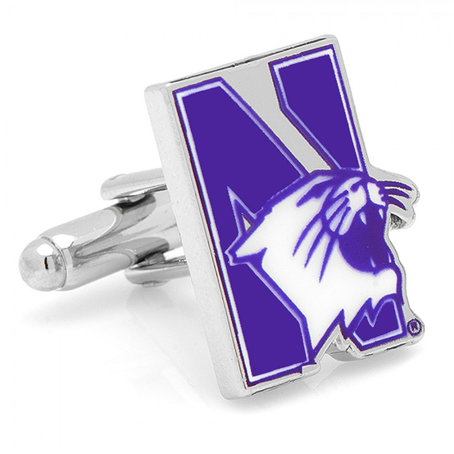 Northwestern University Wildcats Cufflinks1.jpg