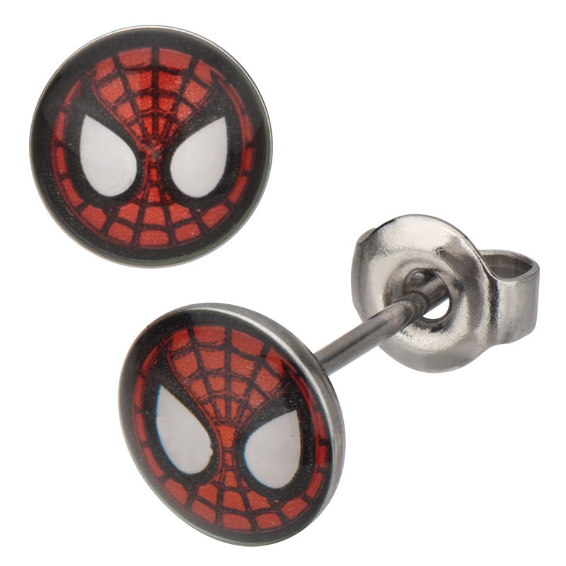 Spiderman Face Stud Circle.JPG