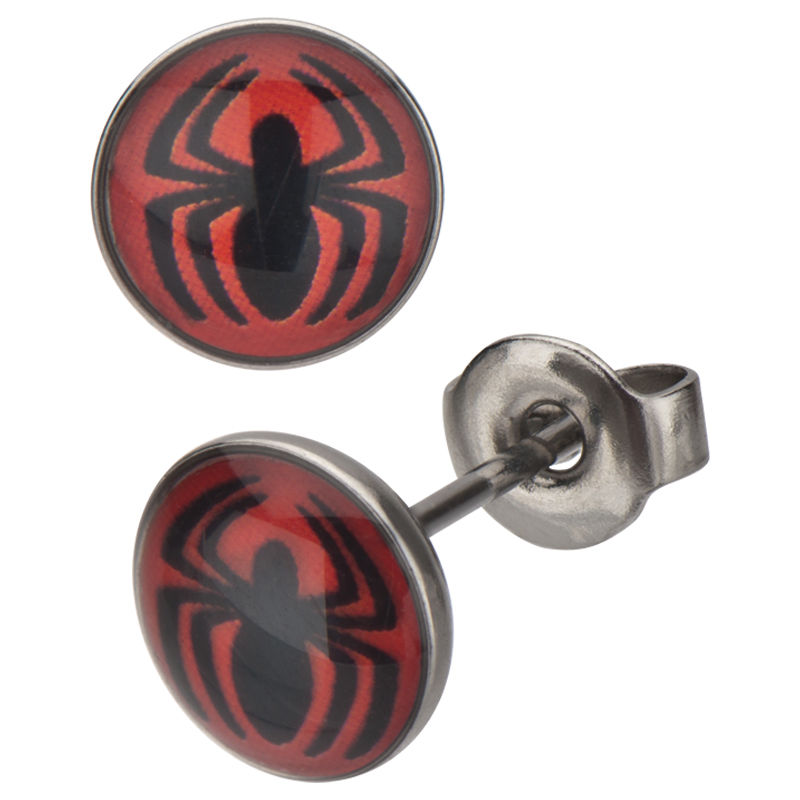 Spiderman Red Logo Stud.JPG