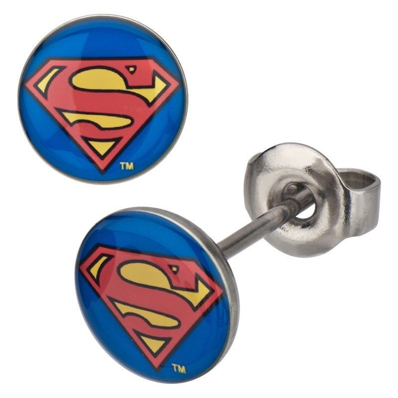 Superman Stud Earrings.JPG