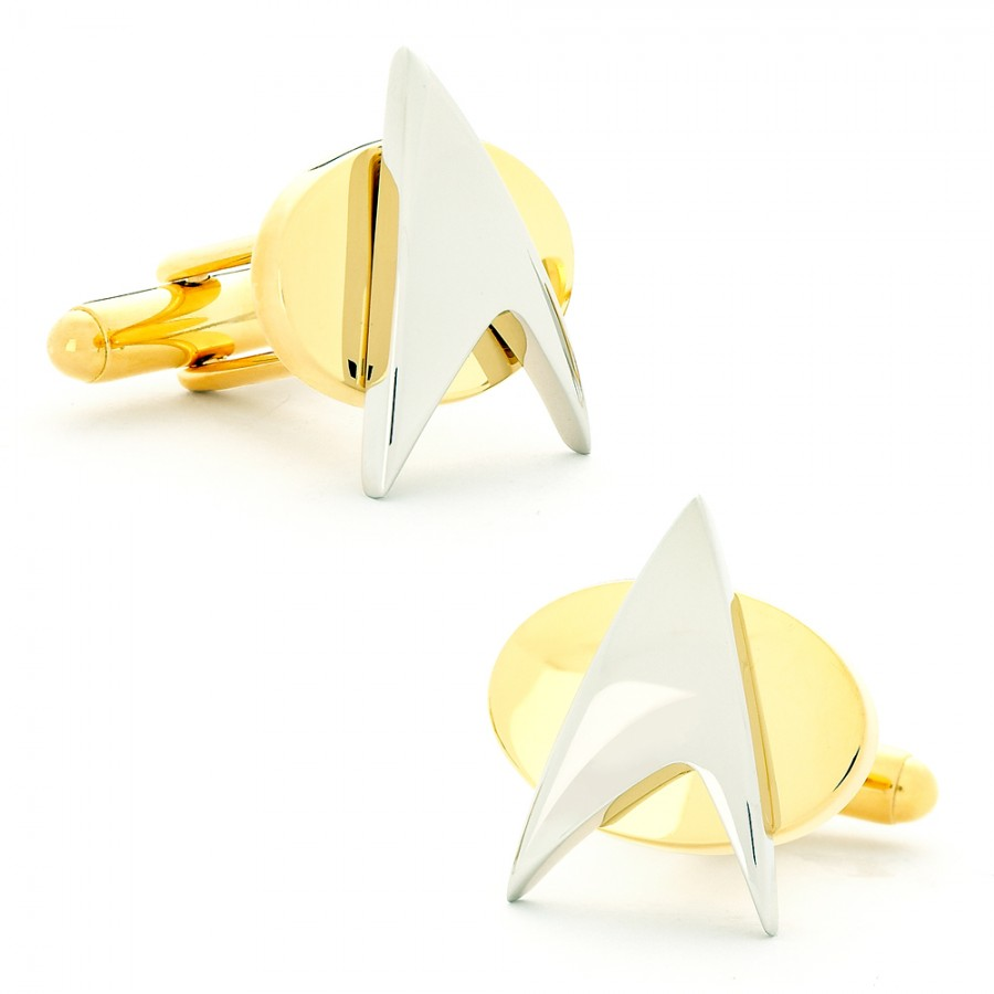 Two Tone Star Trek Delta Shield Cufflinks 1.jpg