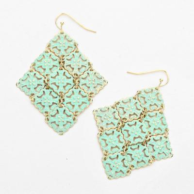 Gold and Mint Its Sensible Fashion Earrings.JPG