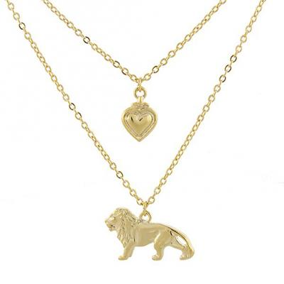 Gold tone Cecil the Lion Layered Necklace.jpg