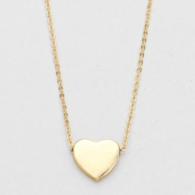 Just Right Gold Tone Heart Pendant Necklace.JPG