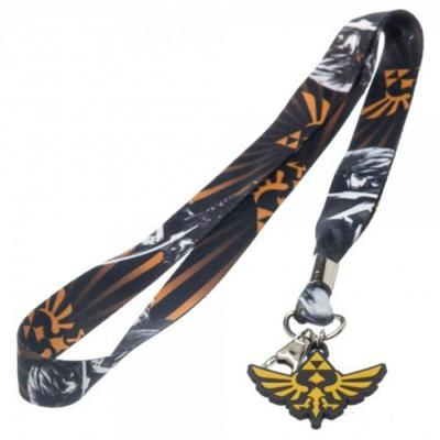 Nintendo Zelda Graphic Print Skyward Sword Lanyard Badge Holder with Charm.JPG