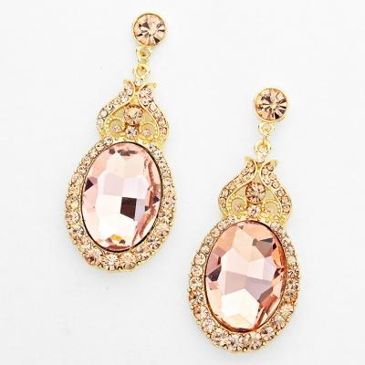 Perfect Pageant Rosy Gold Dazzle Earrings.JPG