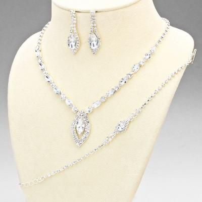 Silver Tone Glamour Sheek 3 Piece Set.JPG