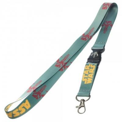 Star Wars Mandalorian Lanyard Badge Holder Boba Fett.JPG