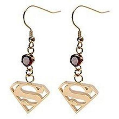 Superman Gold Dangle Earrings.JPG