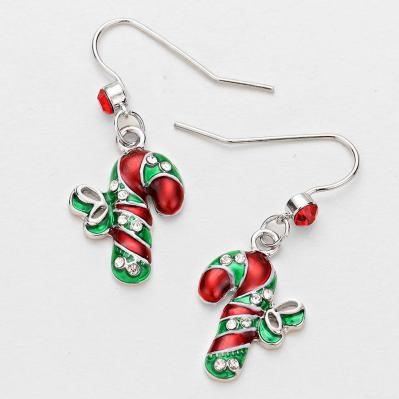 festive green and red candycane earring.JPG