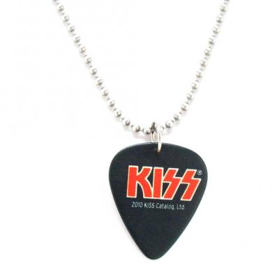 kiss black guitar pic necklace.JPG
