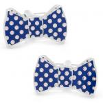 Navy and Pink Polka Dot Bow Tie Cufflinks.jpg