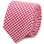 Red Gingham Cotton Skinny Tie 1.jpg
